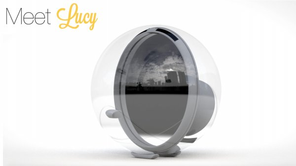Lucy is a robot that bends sunlight into your Home
