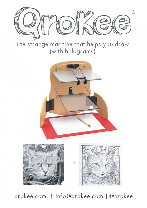 QroKee, the strange machine that helps you draw (with holograms)
