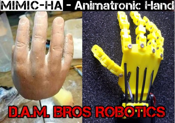 Mimic.Ha - Animatronic/Prosthetic Hand with realistic human appearance