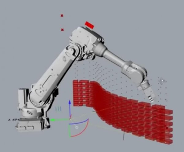 Bricklaying Robot - draw your ground plan and robot will build wall