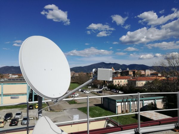 Get nowcast by measuring the strength of satellite TV broadcasts.