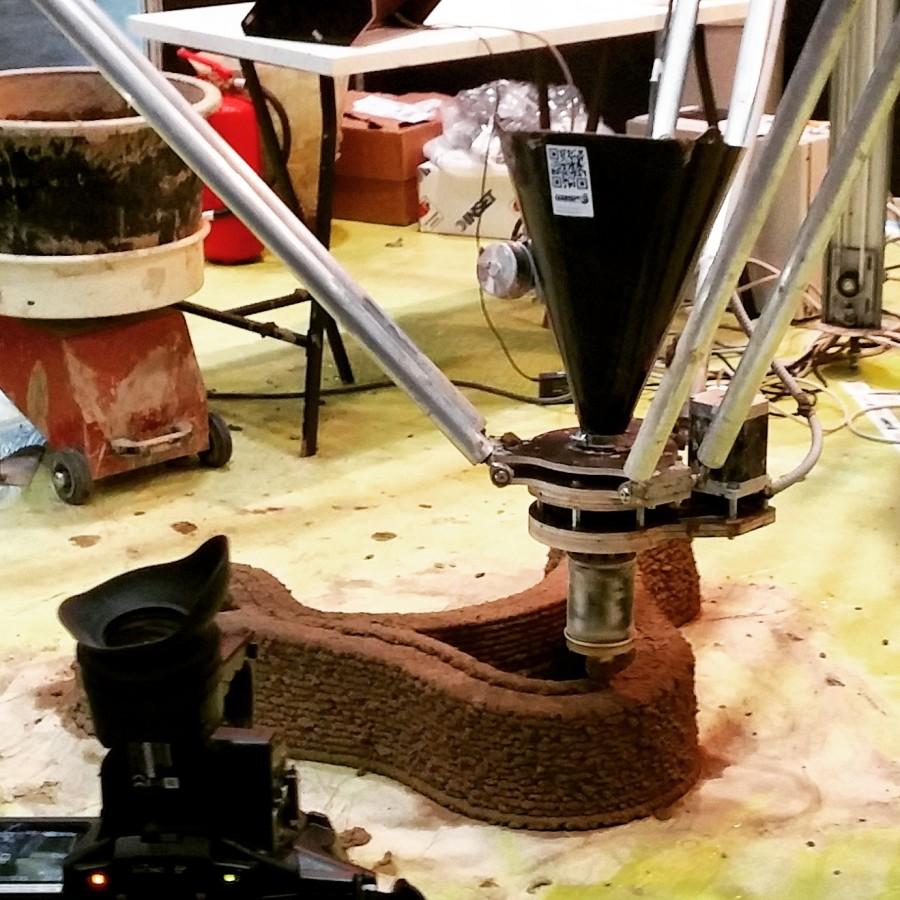 Il nuovo estrusore WASP, decisivo per la stampa di case in argilla