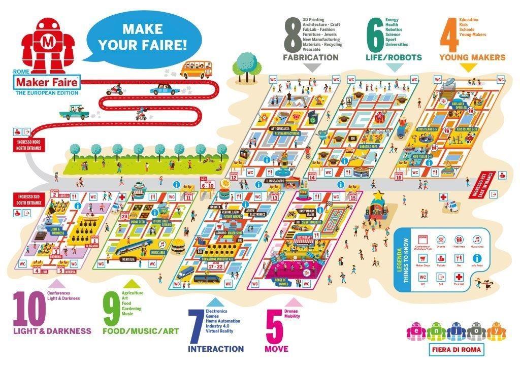Mappa Maker Faire Rome 2017