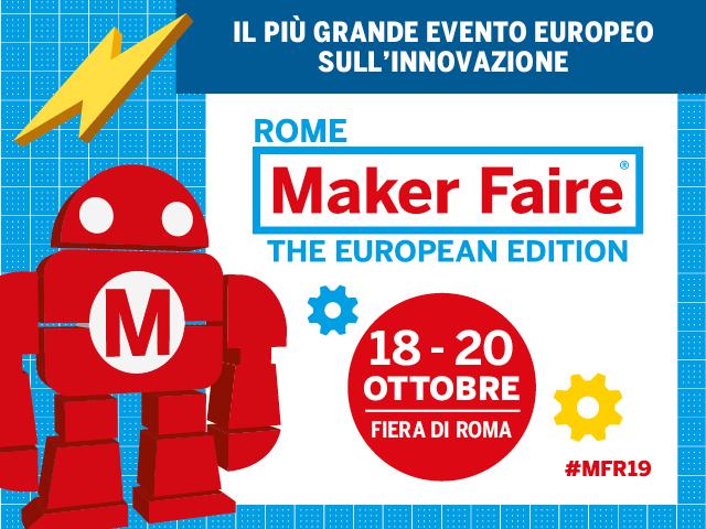 Risultati immagini per logo maker faire roma 2019