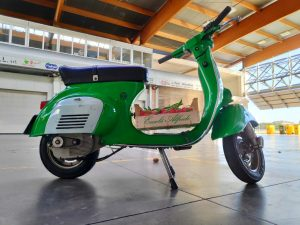 The Vespa after mounting the Retrokit Vespa Electric (photo: motoveloci.it)