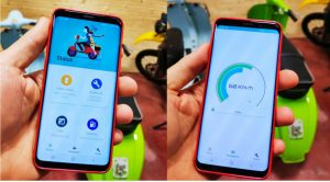 The app for monitoring the Retrokit Vespa Electric (photo: motoveloci.it)