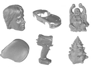 Objects created with OpenScan (photo: openscan.eu)