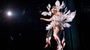 Bijork performing on stage