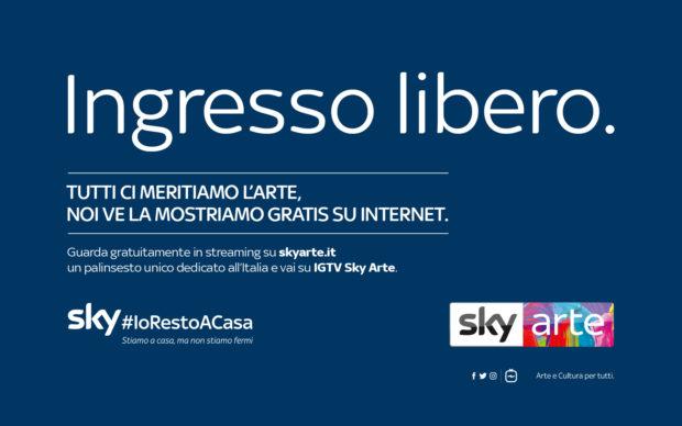 Banner Sky Arte per campagna #iorestoacasa