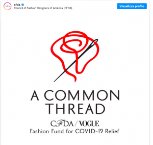 La direttrice di Vogue America Anne Wintour ha lanciato un progetto a sostegno della moda americana, messa in ginocchio dalla pandemia di coronavirus