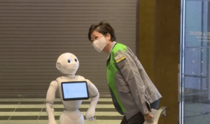 Robots are used at Tokyo Hotels to greet COVID patients