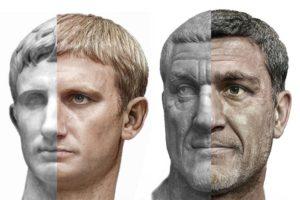 Roman emperors: Augustus and Maximinus Thrax