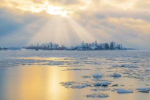 Helsinki archipelago in winter