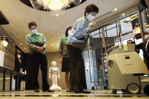 Robot hotel sanitazion