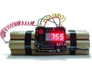 Explosive alarm clock by Michael Krumpus
