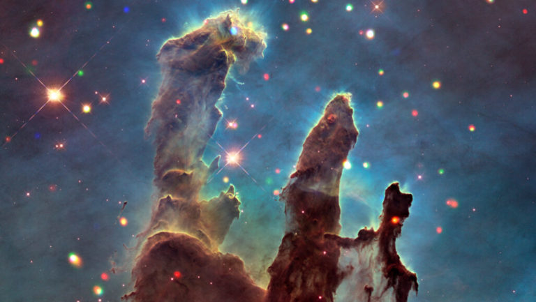 Audio versions of telescope images such as the Pillars of Creation (shown in this false-color composite image) make astronomy more accessible for people who are blind and visually impaired.