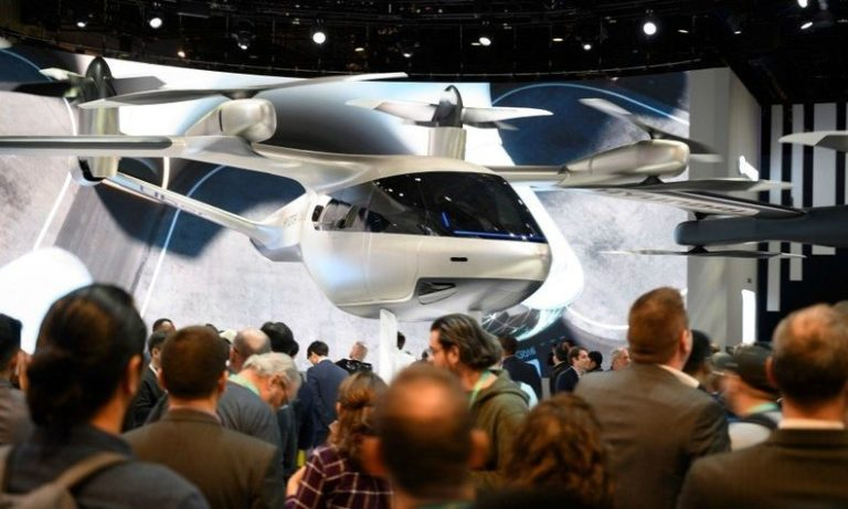 Hyundai showcased its flying-car concept, developed with Uber, at the Consumer Electronics Show in Las Vegas early this year.