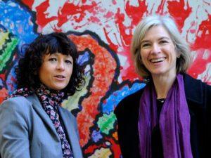 Scientists Emmanuelle Charpentier (France) and Jennifer Anne Doudna (US) winner of the 2020 Nobel Chemistry Prize