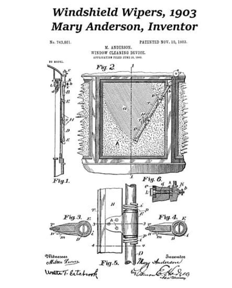 Mary Anderson inventrice del tergicristallo
