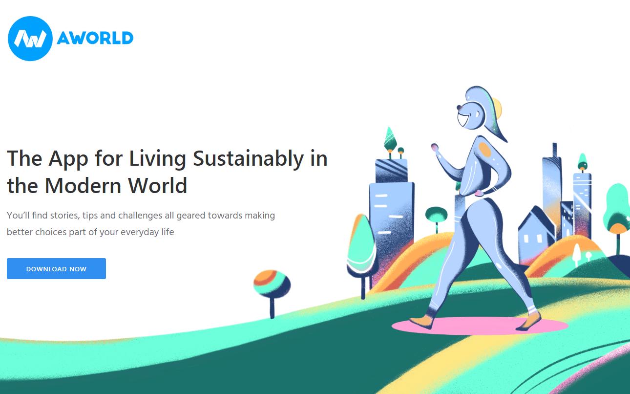 AWorld, la app italiana per uno stile di vita più sostenibile!