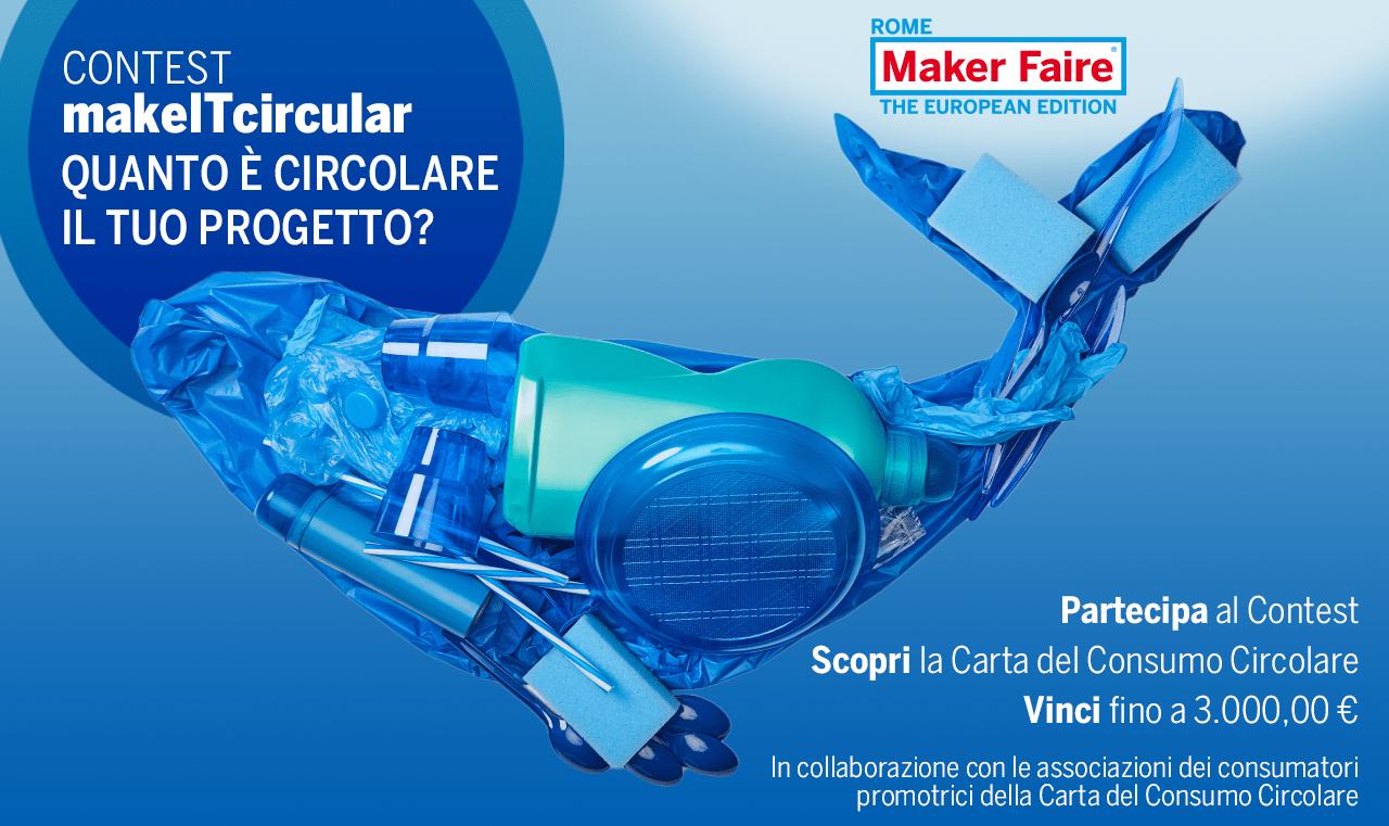 """Contest """"makeITcircular"""": fino a 3.000 euro per la tua idea"""