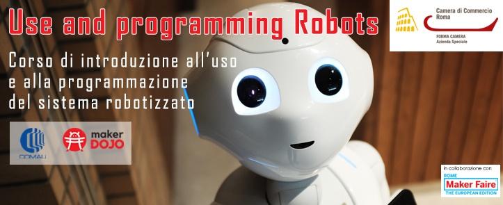 """Al via """"Uso e programmazione Robot"""", corso di programmazione di robot"""